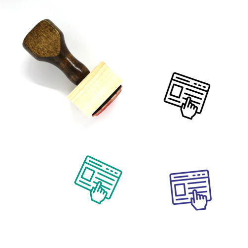 Online Browser Wooden Rubber Stamp No. 2
