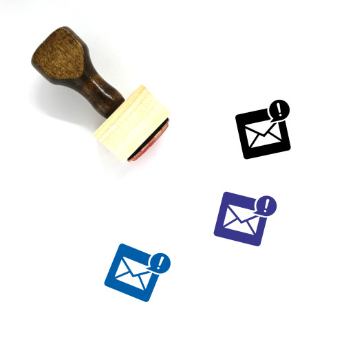 Email Wooden Rubber Stamp No. 150