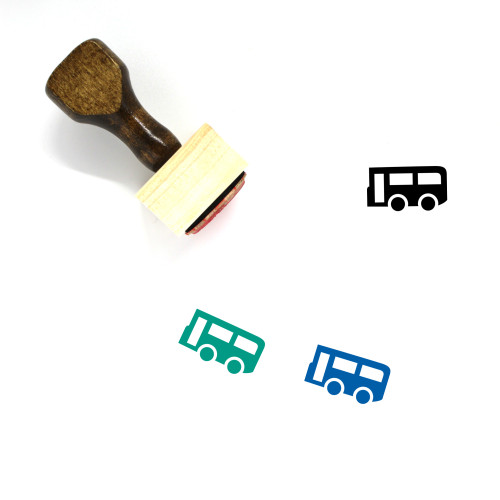 School Bus Wooden Rubber Stamp No. 47