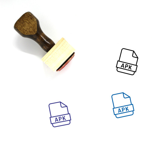 Apk Wooden Rubber Stamp No. 14