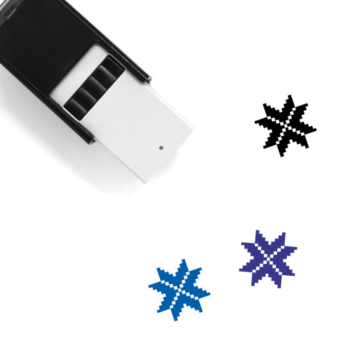 Pixel Star Self-Inking Rubber Stamp No. 4