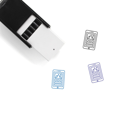 Mobile Interface Self-Inking Rubber Stamp No. 25