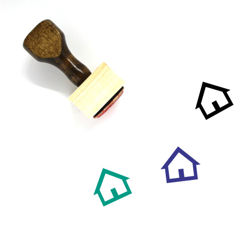 House Wooden Rubber Stamp No. 450