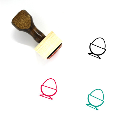 Egg Cup Wooden Rubber Stamp No. 21