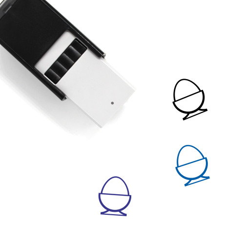 Egg Cup Self-Inking Rubber Stamp No. 21