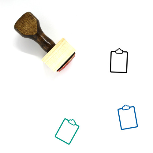 Clipboard Wooden Rubber Stamp No. 123