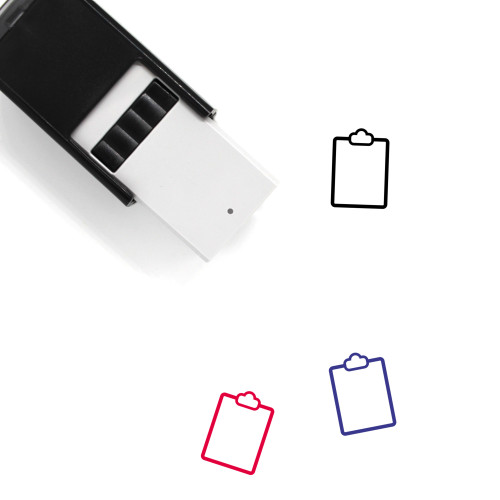 Clipboard Self-Inking Rubber Stamp No. 123