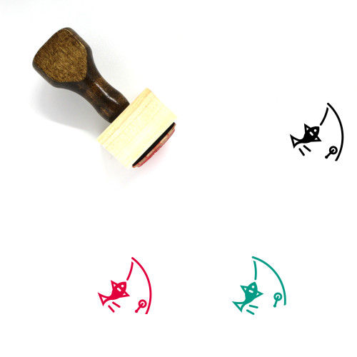 Fishery Wooden Rubber Stamp No. 3