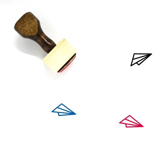 Paper Plane Wooden Rubber Stamp No. 49
