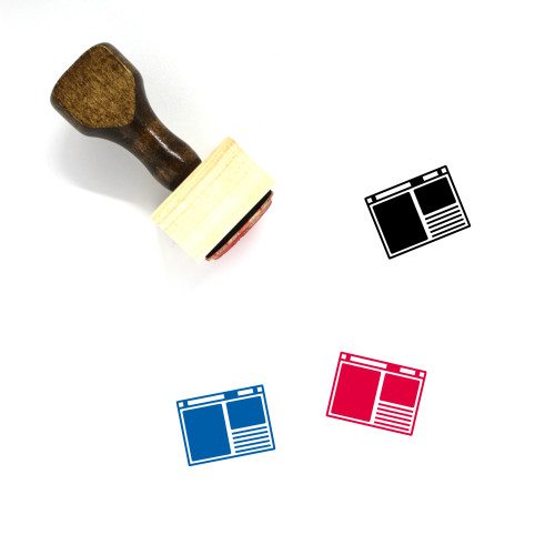 Browser Wooden Rubber Stamp No. 119
