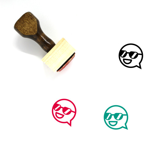 Speech Bubble Wooden Rubber Stamp No. 324