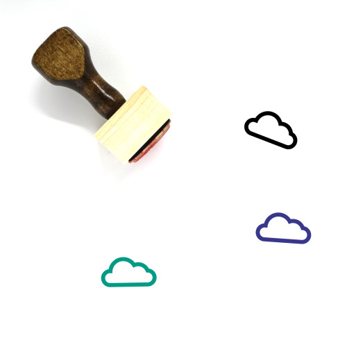 Cloud Wooden Rubber Stamp No. 399