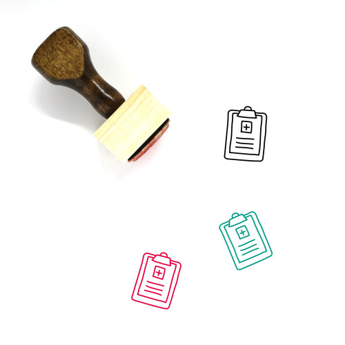 Medical Records Wooden Rubber Stamp No. 8