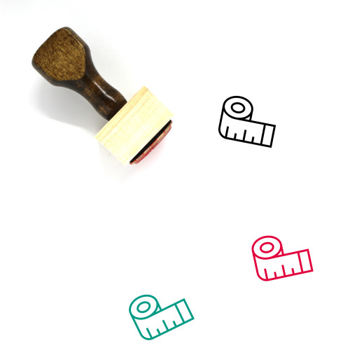 Tape Measure Wooden Rubber Stamp No. 8