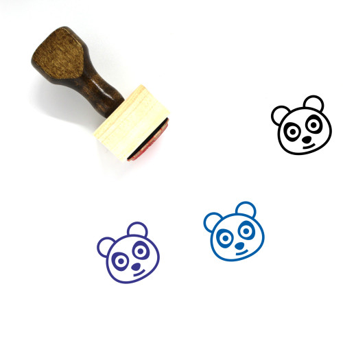 Panda Wooden Rubber Stamp No. 91