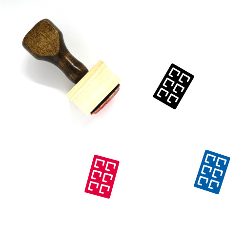 Chocolate Bar Wooden Rubber Stamp No. 17