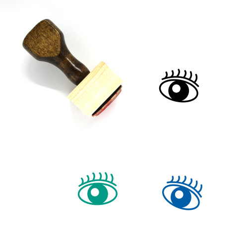 Eye Scan Wooden Rubber Stamp No. 36