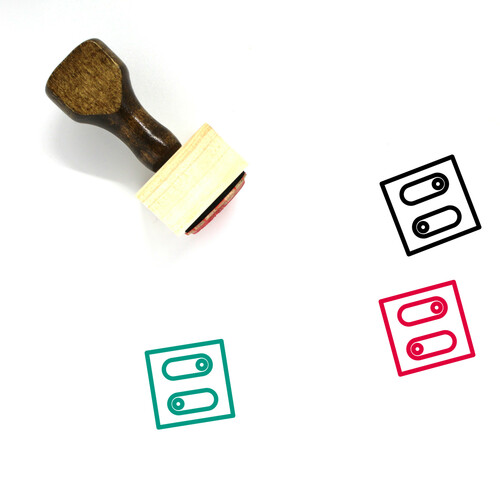 Toggles Wooden Rubber Stamp No. 8