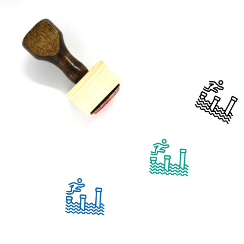 Sports Wooden Rubber Stamp No. 178