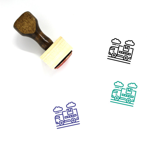 Delivery Truck Wooden Rubber Stamp No. 47