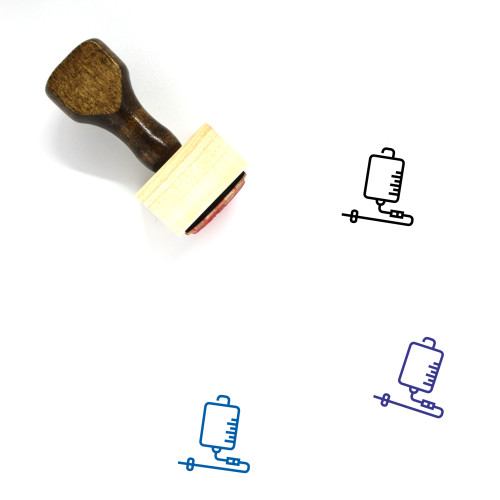 Infusion Wooden Rubber Stamp No. 38