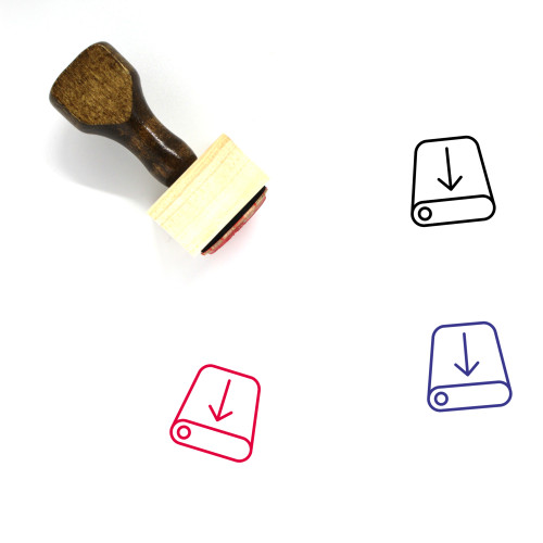 Downloading Wooden Rubber Stamp No. 40