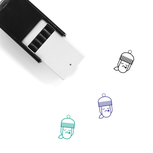 Girl Face Self-Inking Rubber Stamp No. 37