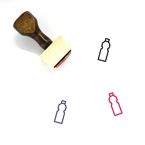 Bottled Water Wooden Rubber Stamp No. 11
