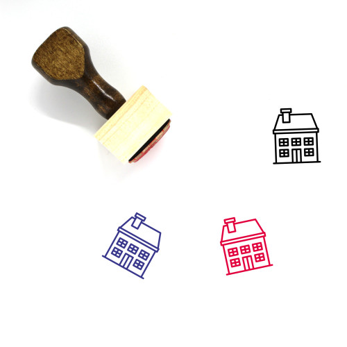 House Wooden Rubber Stamp No. 451