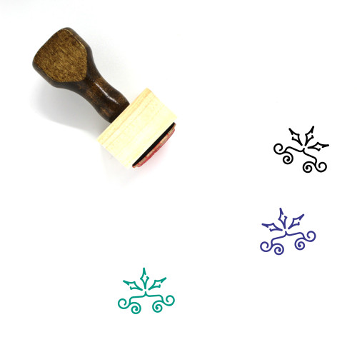 Floral Wooden Rubber Stamp No. 53