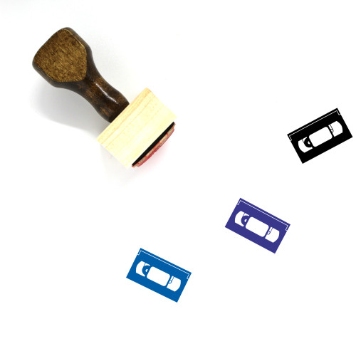 VHS Tape Wooden Rubber Stamp No. 4