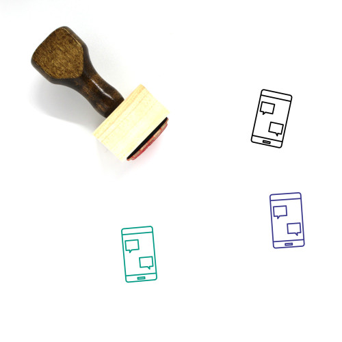 Mobile Advertising Wooden Rubber Stamp No. 16