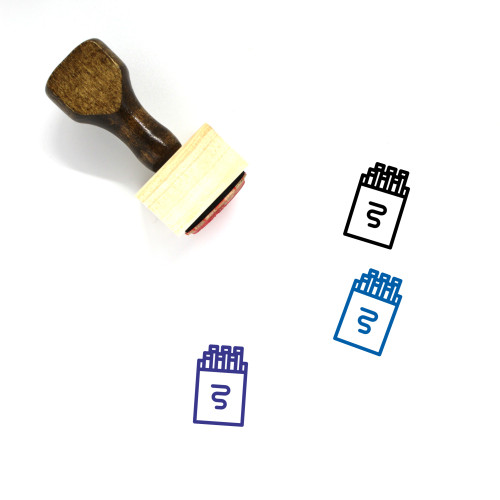 Pack Of Cigarettes Wooden Rubber Stamp No. 1