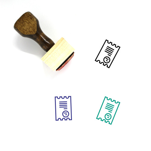 Pay Bill Wooden Rubber Stamp No. 12