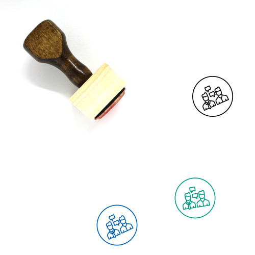 Communication Wooden Rubber Stamp No. 183