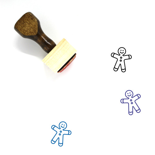 Gingerbread Man Wooden Rubber Stamp No. 117