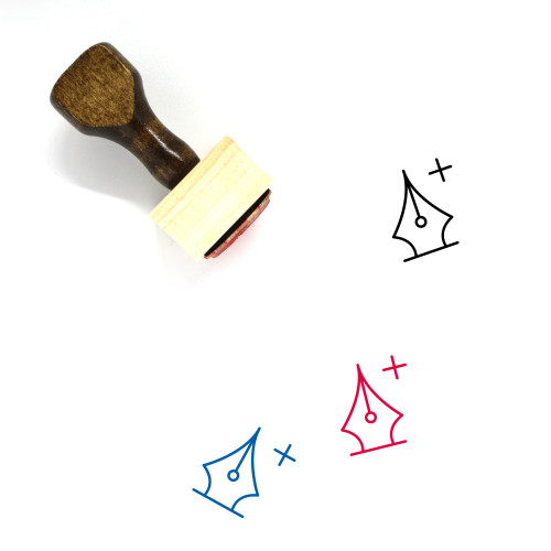 Add Anchor Point Wooden Rubber Stamp No. 17