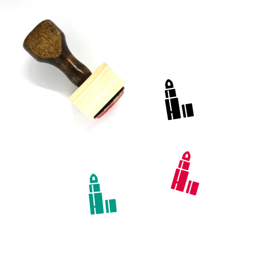 Cosmetics Wooden Rubber Stamp No. 33