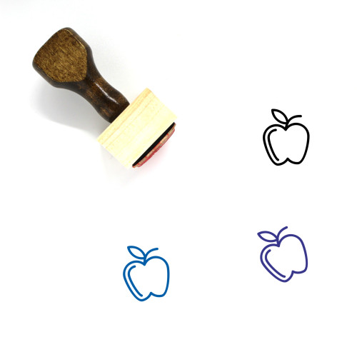Fruit Wooden Rubber Stamp No. 180