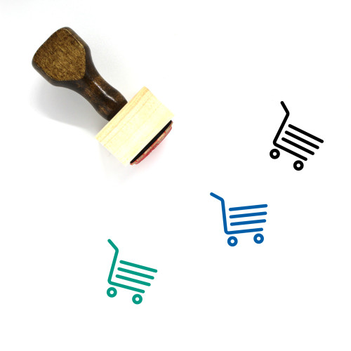 Shopping Cart Wooden Rubber Stamp No. 341