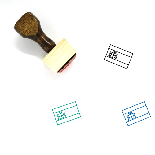 Flag Of Spain Wooden Rubber Stamp No. 6