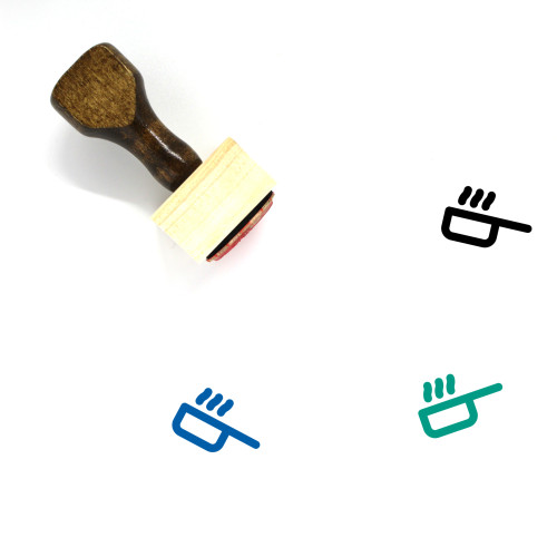 Hot Pan Wooden Rubber Stamp No. 9