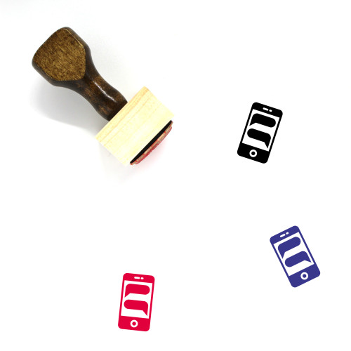 Text Messages Wooden Rubber Stamp No. 11