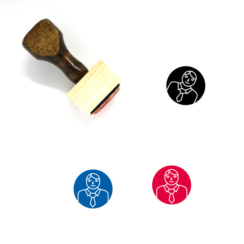 Officer Wooden Rubber Stamp No. 48