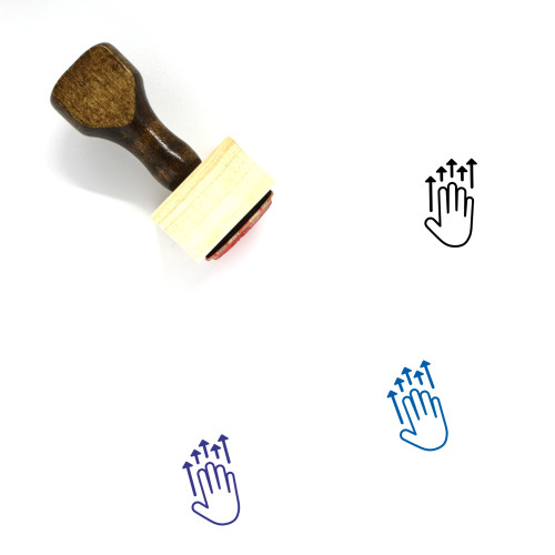 Five Finger Push Up Wooden Rubber Stamp No. 1