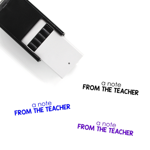 """A Note from the Teacher"" Self-Inking Rubber Stamp for Teachers"