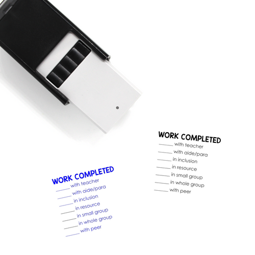 """Work Completed"" List Self-Inking Rubber Stamp for Teachers"