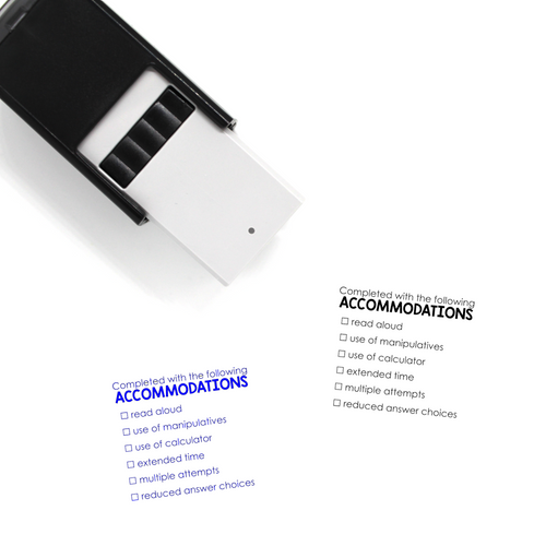 """Accommodations"" List Self-Inking Rubber Stamp for Teachers"