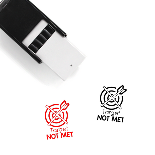 """Target Not Met"" Self-Inking Rubber Stamp for Teachers"