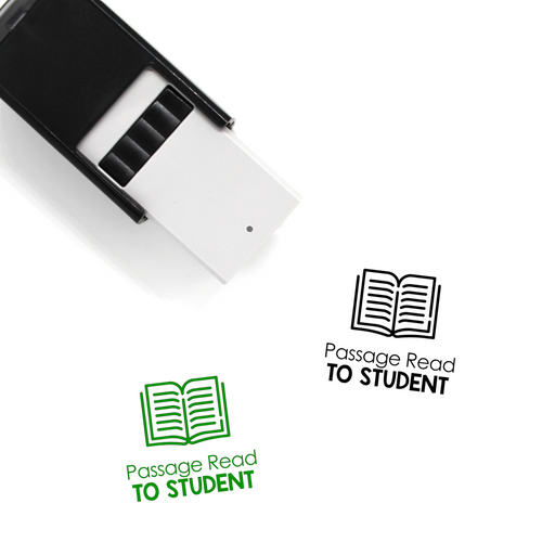 """Passage Read To Student"" Self-Inking Rubber Stamp for Teachers"
